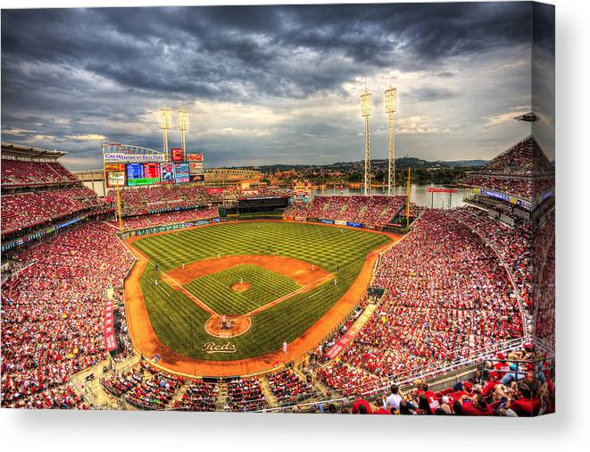 Cincinnati Reds Canvas Print featuring the photograph Great American Ballpark by Shawn Everhart