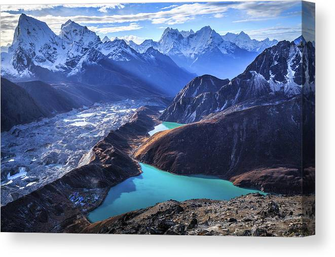 Tranquility Canvas Print featuring the photograph Himalaya Landscape, Gokyo Ri by Feng Wei Photography