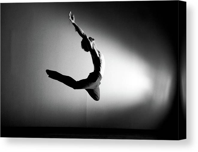 Ballet Dancer Canvas Print featuring the photograph Human Flight by Amygdala imagery