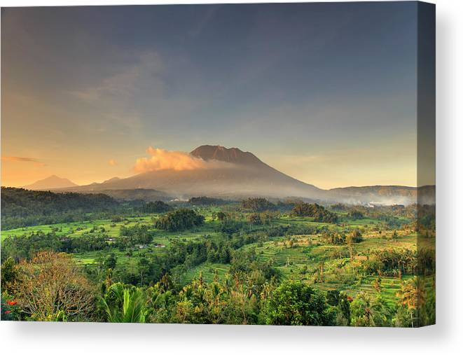 Scenics Canvas Print featuring the photograph Indonesia, Bali, Forest And Gunung by Michele Falzone