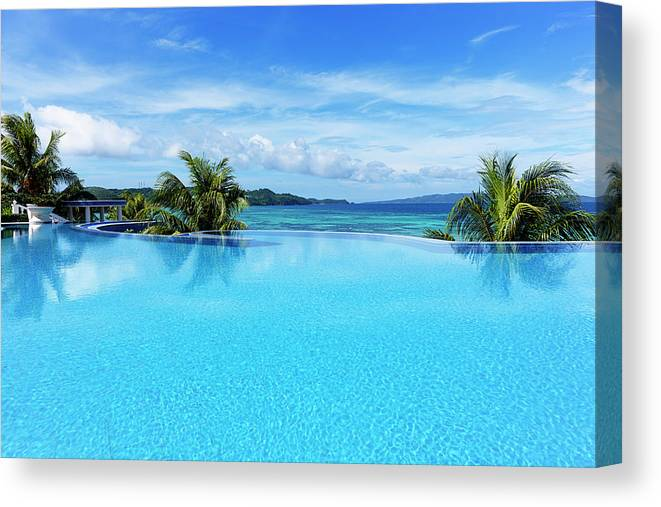 Scenics Canvas Print featuring the photograph Infinity Swimming Pool by 35007