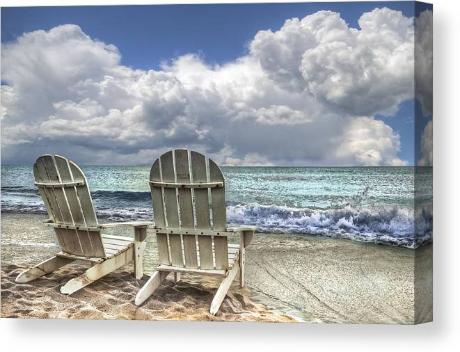 Clouds Canvas Print featuring the photograph Island Attitude by Debra and Dave Vanderlaan