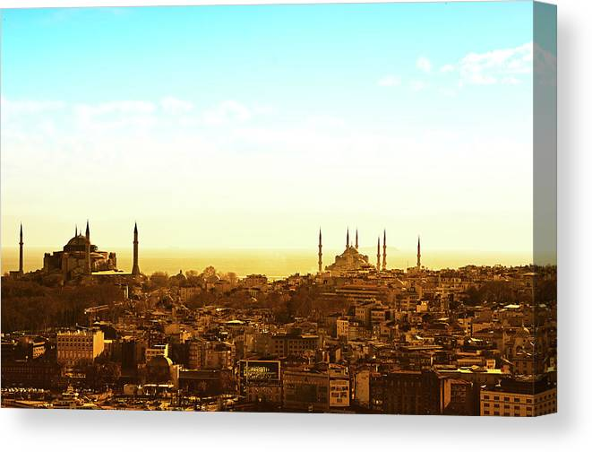 Tranquility Canvas Print featuring the photograph Istanbul by Dhmig Photography
