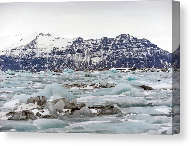 Tranquility Canvas Print featuring the photograph Jokulsarlon by Photo By Dave Moore