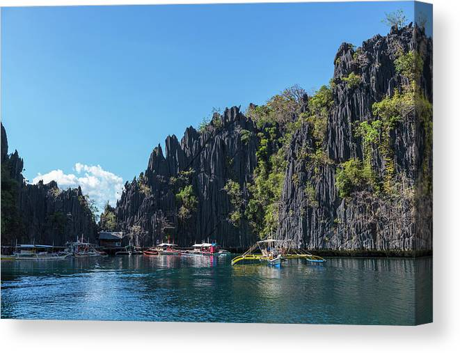 Outdoors Canvas Print featuring the photograph Lagoon, Coron, Palawan, Phillippines by John Harper