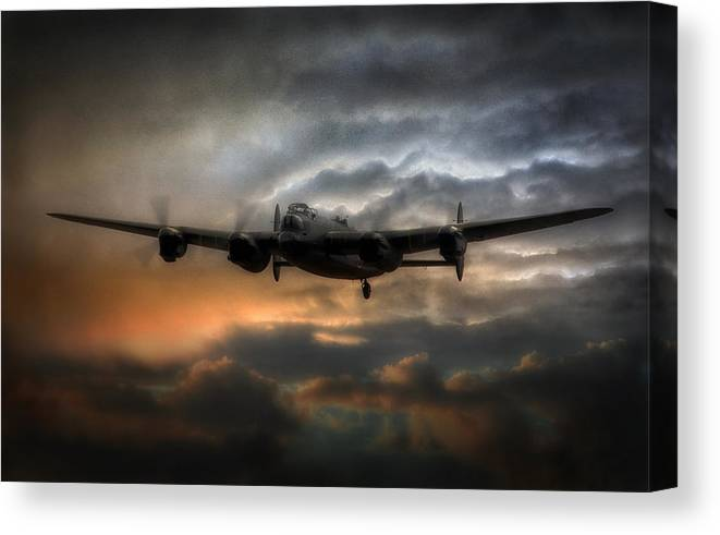 Avro Lancasters winter scene canvas print various sizes free delivery