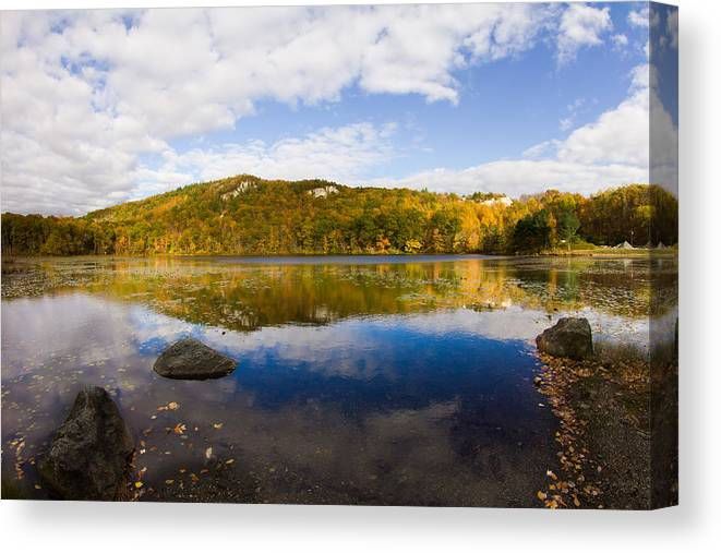 Lantern Hill Pond Canvas Print featuring the photograph Lantern Hill Pond - North Stonington CT by Kirkodd Photography Of New England