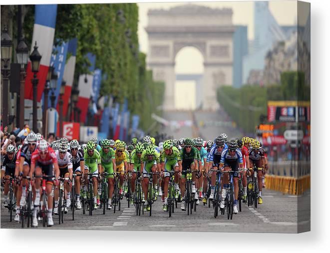 Évry Canvas Print featuring the photograph Le Tour De France 2014 - Stage Twenty by Bryn Lennon