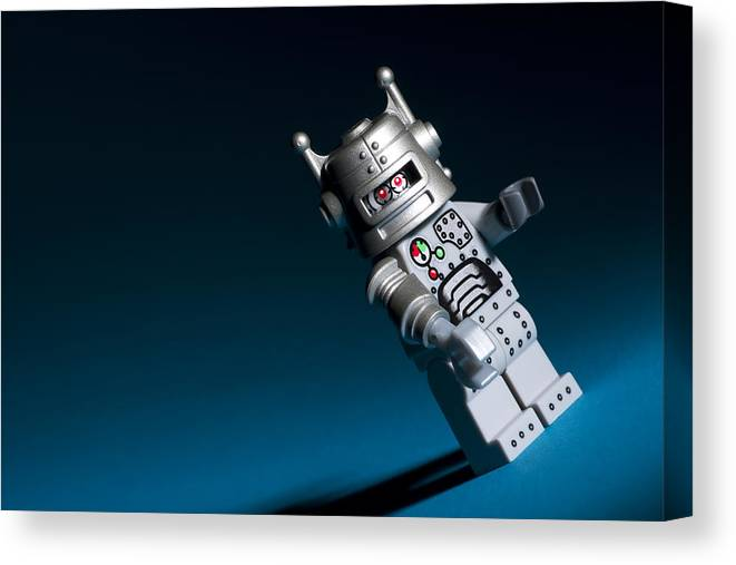 Lego Canvas Print featuring the photograph Lego Robot by Samuel Whitton