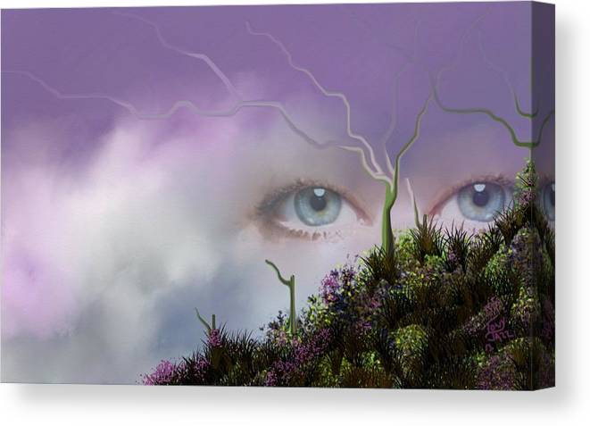 Look Of Love Canvas Print featuring the digital art Look of Love by Tony Rodriguez