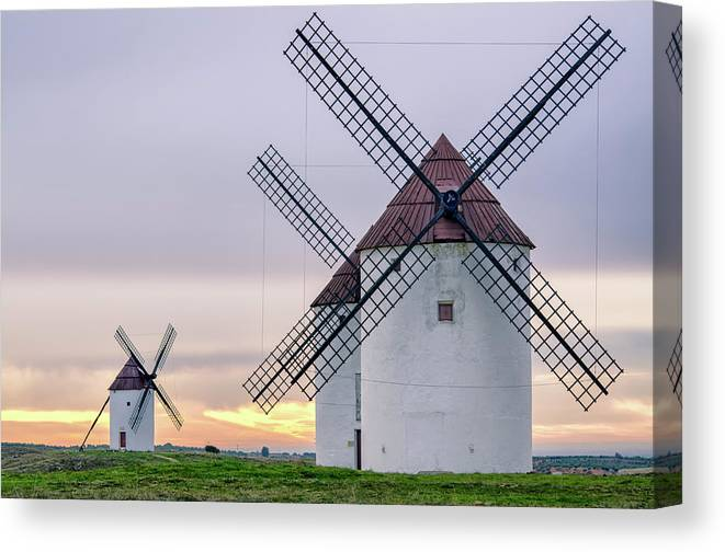 Environmental Conservation Canvas Print featuring the photograph Los Gigantes Del Quijote by Eddy Photo