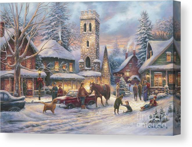 Fine Art Investment Canvas Print featuring the painting Love Runs Deep by Chuck Pinson