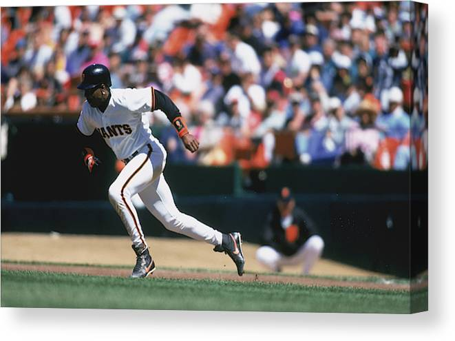 Candlestick Park Canvas Print featuring the photograph MLB Photos Archive by Jeff Carlick
