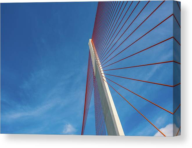 Hanging Canvas Print featuring the photograph Modern Suspension Bridge by Phung Huynh Vu Qui
