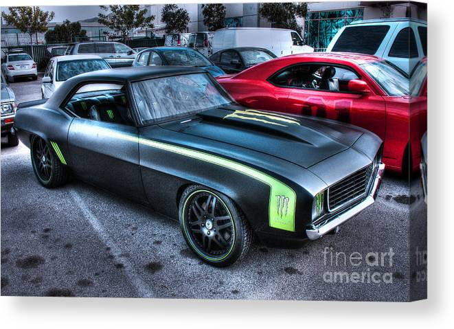 1969 Chevy Camaro Canvas Print featuring the photograph Monster Camaro by Tommy Anderson