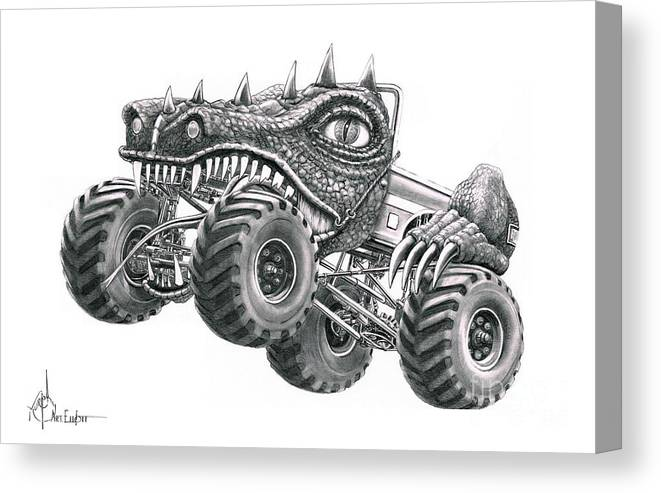 Monster Truck Canvas Print Canvas Art By Murphy Elliott