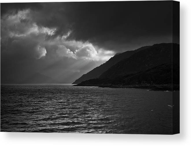 Scenics Canvas Print featuring the photograph Moody Scottish Weather by Charles Briscoe-knight