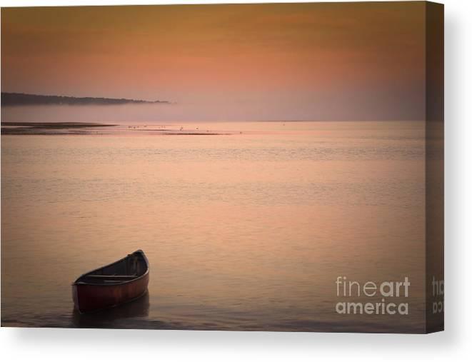 Sunrise Canvas Print featuring the photograph Morning Sea Smoke by Brenda Giasson