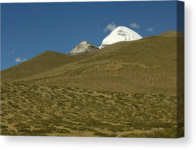 Chinese Culture Canvas Print featuring the photograph Mount Kailash by Tanukiphoto