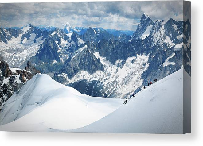 Recreational Pursuit Canvas Print featuring the photograph Mountain Climbers by Mammuth