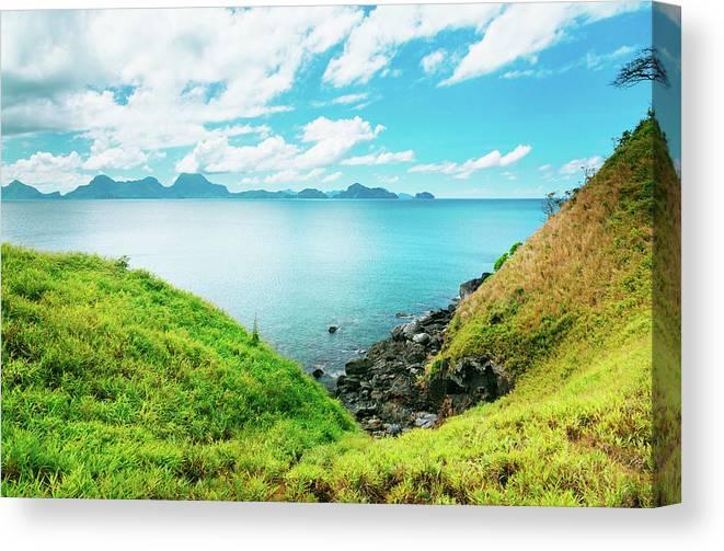 Scenics Canvas Print featuring the photograph Nacpan Beach Hills by Danilovi