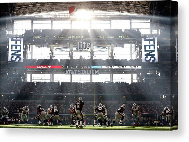 New England Patriots Canvas Print featuring the photograph New England Patriots V Dallas Cowboys by Christian Petersen