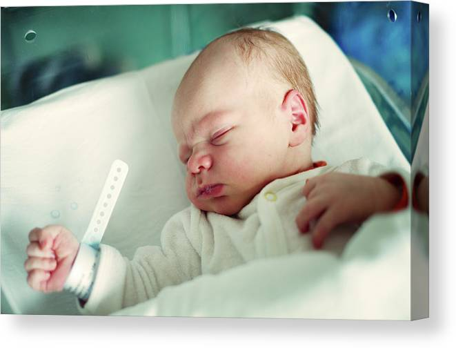 Tranquility Canvas Print featuring the photograph Newborn Boy. First Day by Aleksandr Morozov