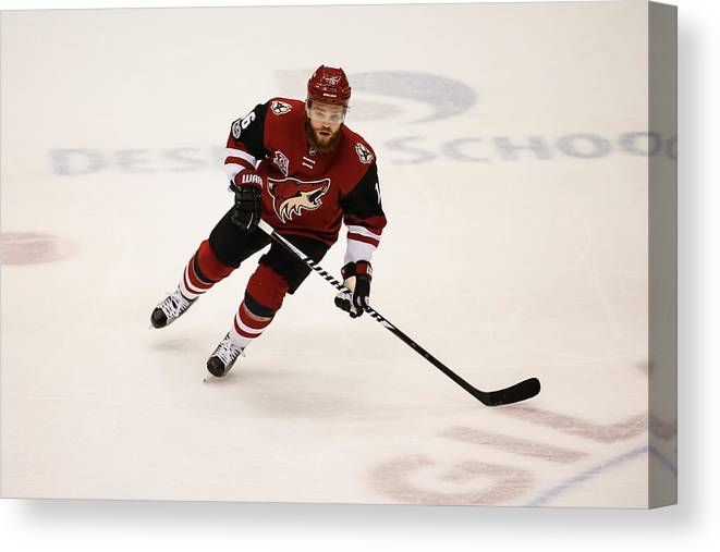National Hockey League Canvas Print featuring the photograph NHL: MAR 31 Capitals at Coyotes by Icon Sportswire
