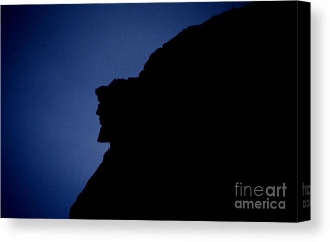 Face Canvas Print featuring the photograph Old Man Of The Mountain - Franconia Notch State Park New Hampshire by Erin Paul Donovan