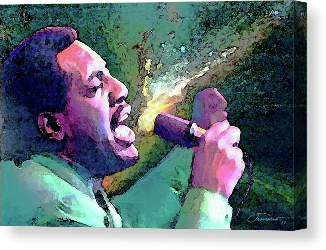 Otis Redding Canvas Print featuring the painting Otis Redding by John Travisano