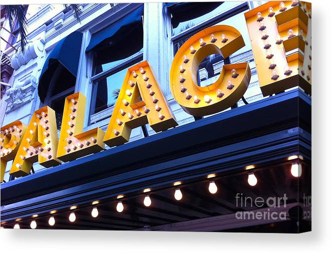 Palace Cafe Canvas Print featuring the photograph Palace Cafe by Kim Fearheiley