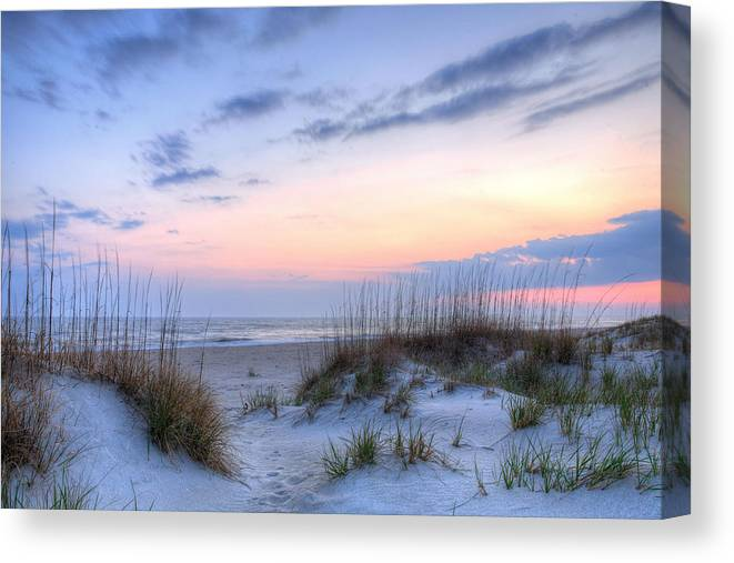 Caswell Beach Canvas Print featuring the photograph Perfect Skies by JC Findley