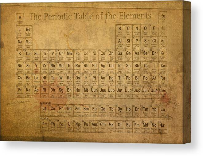 Periodic Canvas Print featuring the mixed media Periodic Table of the Elements by Design Turnpike
