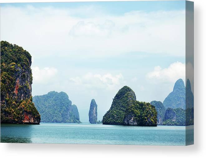 Archipelago Canvas Print featuring the photograph Phang Nga Archipelago Near Phuket by Ivanmateev