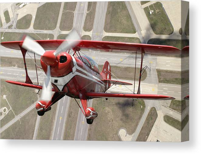 Pitts Special S-2b Framed Prints Canvas Print featuring the photograph Pitts Special S-2B by Larry McManus