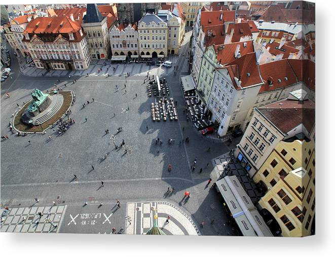 Tranquility Canvas Print featuring the photograph Prague Old Town Square by J.castro