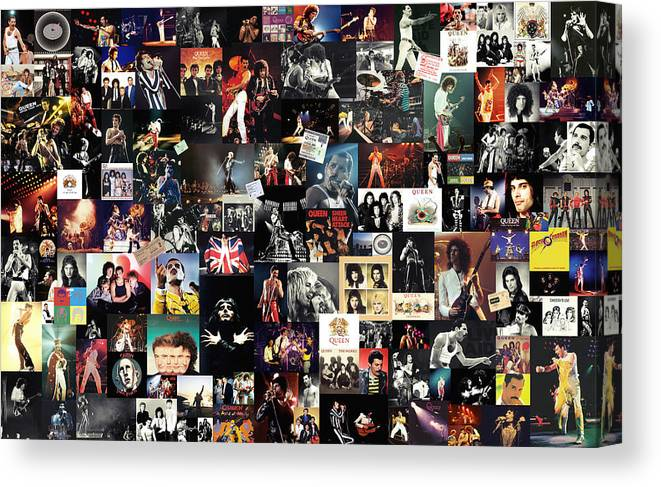 Queen Canvas Print featuring the digital art Queen Collage by Zapista OU