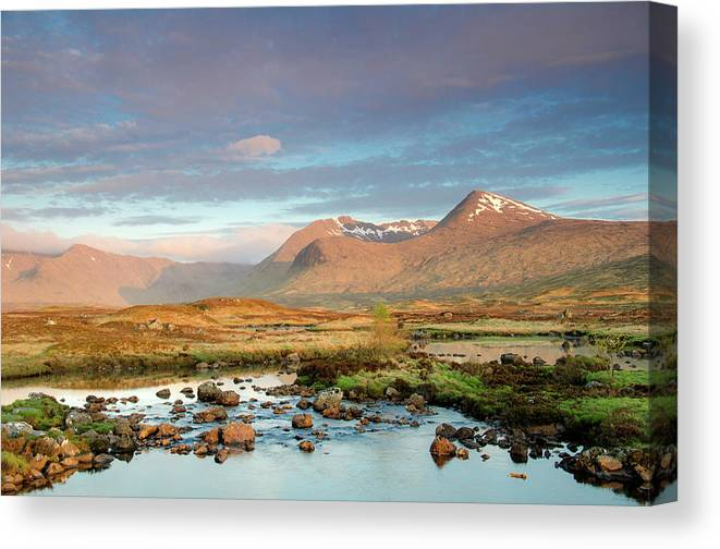 Scenics Canvas Print featuring the photograph Rannoch Moor by Mike Dow Photography