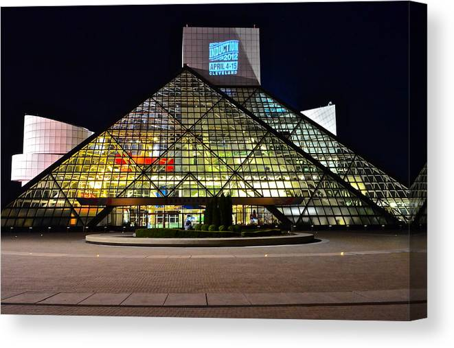 Rock And Roll Canvas Print featuring the photograph Rock n Roll hall of Fame Induction by Frozen in Time Fine Art Photography