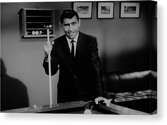 The Twilight Zone Canvas Print featuring the photograph Rod Serling by Rob Hans