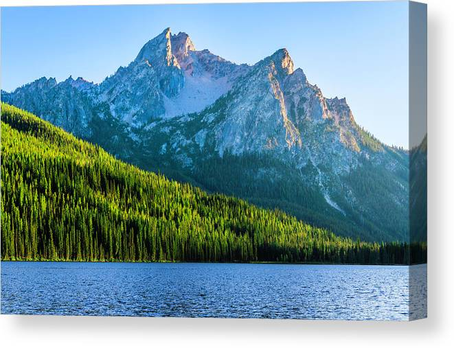 Scenics Canvas Print featuring the photograph Sawtooth Mountains And Stanley Lake by Dszc
