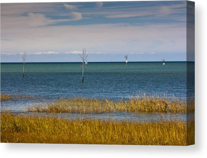 Rock Harbor Canvas Print featuring the photograph Seascape 3 by Dennis Coates