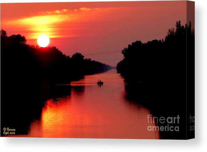 Landscape Canvas Print featuring the photograph September Sunset by Rennae Christman