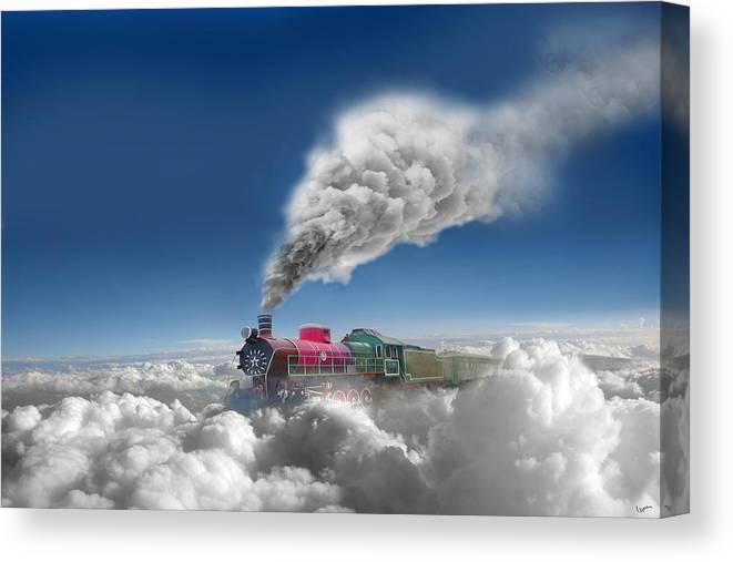 Clouds Canvas Print featuring the photograph Sky Express by Igor Zenin