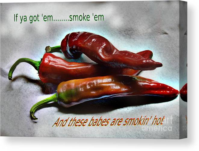 Hot Canvas Print featuring the photograph Smokin' by The Stone Age