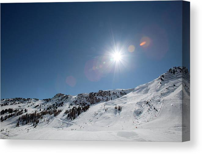Scenics Canvas Print featuring the photograph Snowy Ski Resort by Chris Tobin
