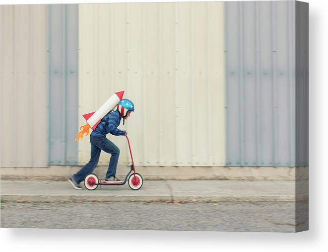 Taking Off Canvas Print featuring the photograph Speed by Richvintage