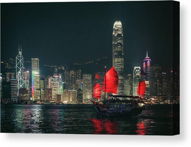 Outdoors Canvas Print featuring the photograph Splendid Asian City, Hong Kong by D3sign