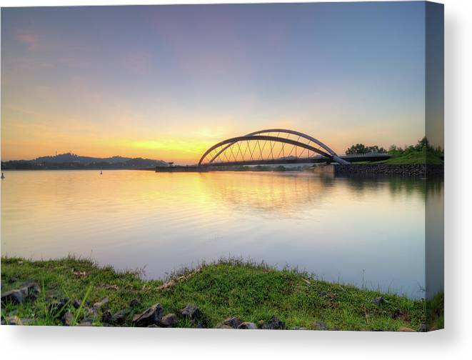 Tranquility Canvas Print featuring the photograph Sunrise by Mohamad Zaidi Photography