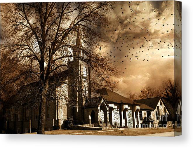 Beautiful Gothic Autumn Tree Giclee Canvas Picture Wall Decoration